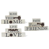Pyramid Tabletop Home Decor Signs, 3 Styles