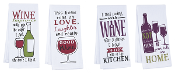 Wine Humor Kitchen Linens, 4 Different Patterns