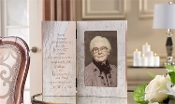Memorial Collection Hinged Photo Frame W/ Engravable Plate