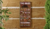 Lodge Rules, Novelty Sign From Giftcraft