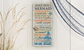 Advice From a Mermaid, Novelty Wall Plaque