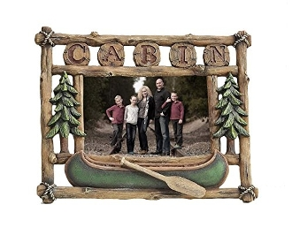 "Gift Craft Cabin Picture Frame, 4"" x 6"""