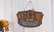 Gift Craft Welcome To Our Cabin Wall Sign