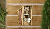 Polystone Outhouse Design Birdhouse