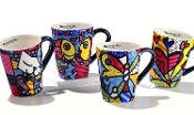 Romero Britto Mug, Icon Designs, Choice of 4 Designs