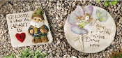 Giftcraft stepping stones, Fairy and Gnome Designs