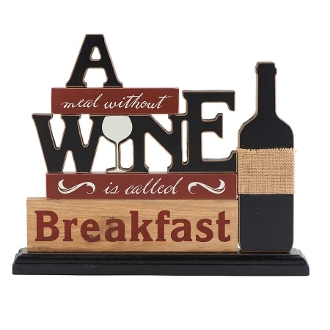 A Meal Without Wine, Tabletop Novelty Sign