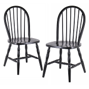 Set of 2 Windsor Chairs with curved legs