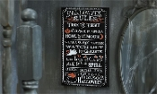 Chalk Talk MDF Halloween Design Wall Plaque (Halloween Rules)
