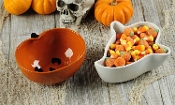Chalk Talk Ceramic Halloween Design Tidbit Bowls