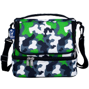 Green Camo Double Decker Lunch Bag