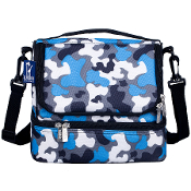 Blue Camo Double Decker Lunch Bag