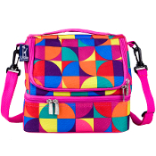 Pinwheel Double Decker Lunch Bag