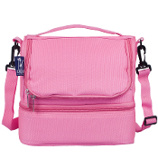 Flamingo Pink Double Decker Lunch Bag