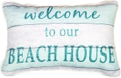 Welcome To Our Beach House, Throw Pillow