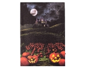 Castle on the Hill LED Light-up Halloween Stretched Canvas