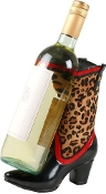 Leopard Boot Wine Caddy