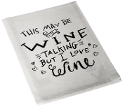 Love Wine Tea Towel, 28-Inch