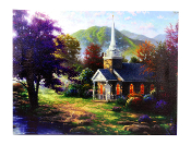 Lighted Church Painting
