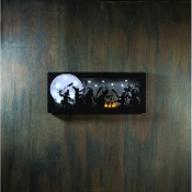 The Witches Dance LED Lighted Sparkling Halloween Canvas Print