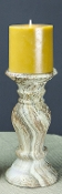 Faux Marble Candlestick Small Crema