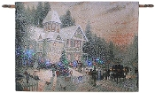 Thomas Kinkade Victorian Christmas Fiber Optic Wall Hanging