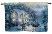 Thomas Kinkade Home For The Holidays Fiber Optic Wall Hanging