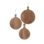 Round Wooden Breadboards, Set of Three