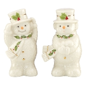 Happy Holly Days Snowman Salt & Pepper Shaker Set