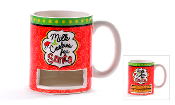 Santa Coffee Mug With Cookie Compartment