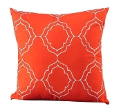 Polyester Lattice Pillow, Orange, 18 by 18-Inch