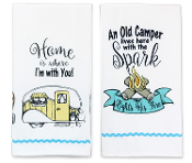 Camper Sentimental Kitchen Towel, Set of Two
