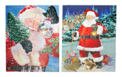 Santa Claus Lighted Wall Art, Two Seperate Designs