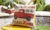 Red Pickup Truck Decorative Throw Pillow