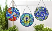 Large Multicolor Glass Suncatchers