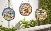 Beautiful Multicolor Glass Suncatcher with Fairy Design