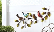 Wrought Iron Birds On A Branch