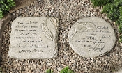 Memorial Stepping Stone, Two Different Designs