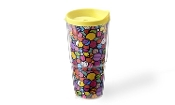 Romero Britto 20oz Double-Wall FlowersTumbler