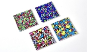 Romero Britto Colorful Glass Coasters, Set of Four