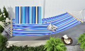 Blue and Yellow Stripe Hammock