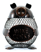 Metal Pig Wine Cork Holder