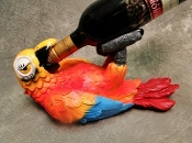 Drunk Parrot Wine Bottle Holder