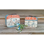 Bicycle Decorative Lunchbox Journey Cases, Set of Two