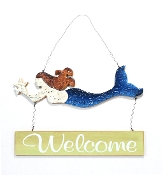Hanging Mermaid Welcome Sign
