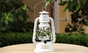 LED Lighted Metal Lantern (White)