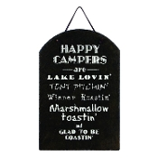 Happy Campers Slate Novelty Sign