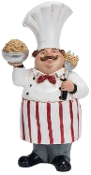 Chef Holding Ground Beef, Resin Statue