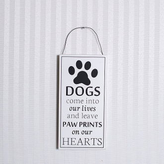 8x4x.25 wood sign (DOGS) white/black