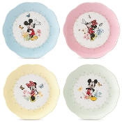 Disney's Mickey & Minnie 4-piece Plate Set